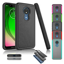 For Motorola Moto G7 Play/Optimo/T-mobile Revvlry Shockproof  Hard Case Cover