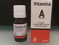 Vitamina A retinolo 10ml 1 CONFEZIONE vitamina anti invecchiamento anti età !