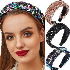 Fashion Women's Sequin Wide Headband Hairband Mermaid Hair Band Hoop Accessories