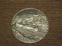 """VINTAGE 1 3/4""""  AMTRAK TRAIN METAL COMMITTED TO OPERATIONAL SAFETY FOCUS MEDAL"""