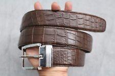 4cm Wide- Dark Brown Genuine Alligator, CROCODILE Leather Skin Men's Belt #TT008
