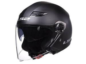 LS2 Jet Helmet OF569.2 Track Black Matte Motorcycle Helmet From Hptt