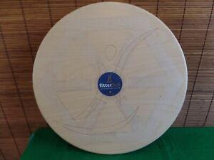 "Fitterfirst 20"" Professional Balance Board, Birch Wood  Tri-level Design"
