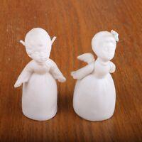 2 Napcoware Angel Figurines Porcelain Vintage