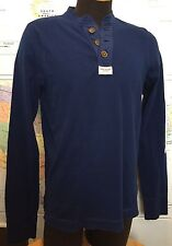 Abercrombie & Fitch XL Long Sleeve Muscle Thin Sweat Thick T-Shirt Blue