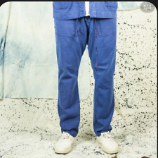 Dr. Collectors P38 Blue Cotton Slub/Corduroy Casual Workwear Pant, Sz XL, 36