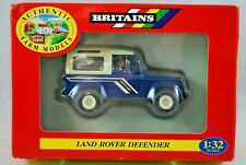 1:32 Britains 9507 LAND ROVER DEFENDER 90 Vehicle Metallic BLUE Color w/ DRIVER