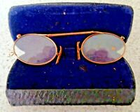 ANTIQUE VICTORIAN SPECTACLES IN CASE STAMPED GF SMITH&SONS SCARBORO GOOD CONDION