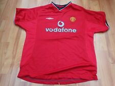 MANCHESTER UNITED MAN UTD VINTAGE 2000-2002 00-02 HOME UMBRO LARGE 32 BOYS SHIRT