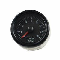 Universal 52mm Black Tinted 0-8000 RPM Car TachoMeters illuminated Gauge