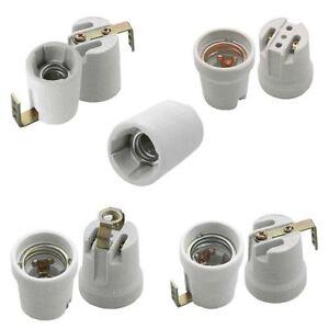 Keramik-Fassung E14 und E27 Befestigungswinkel, Gewinde M10, Baustellenfassung