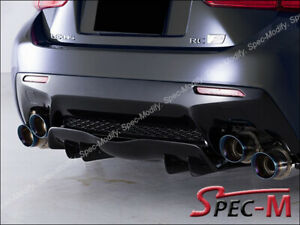 AG Style Unpainted Black Rear Bumper Add-On Diffuser for 2015+ LEXUS RCF RC-F CF