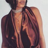 Charm Bib Collar Choker Chunky Jewelry Pendant Chain Statement Necklace Women