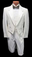 6B Boys White Notch Fulldress Tuxedo Tailcoat & Pants  Set Theater Mason Prom