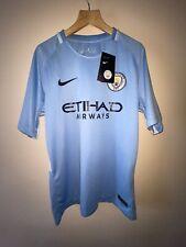 Man City Kun Aguero Football Shirt Jersey Nike Dri Fit Large BNWT Manchester FC