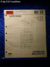 Sony Service Manual MX 50 Microphone Mixer (#1427)