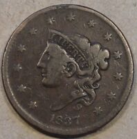 1837 Cornet Large Cent Low-Mid Grade Please see Pictures