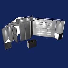 Messestand mit Beleuchtung Abstellkammer Beratungstisch Eckstand 4x6 Meter M25