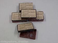 5x original antike Apotheker Gefäß Schachtel Dose Pillenschachtel Pillendose