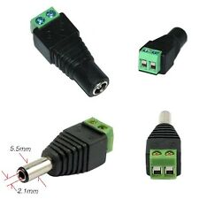 5 Pairs DC Power Supply Adapter Jack Male Female Connector Plugs 5.5x2.1mm