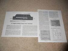 Technics Pro Line ST-9030 Tuner Review, 2 pg, 1978, Specs, Info