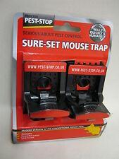 New Pest Stop Sure Set Reusable Powerful Action Mouse Trap  Pk2