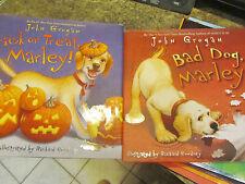 John Grogan lot of 2 HCDJ Bad Dog Marley! Trick or Treat Marley