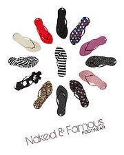 Womens Fashion flip flops 14 prints  funky colours summer light and slimline