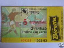 TORINO - INTER BIGLIETTO TICKET 1992 / 93