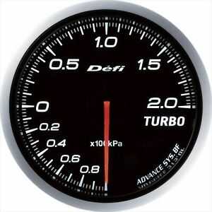 DF09901 Defi-Link ADVANCE BF Turbo Total 200 kpa White Boost Gauge from Japan