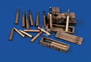 Verlinden 1/35 75mm Ammo Shells, Cartridges and Crates for Panther Tank WWII 479