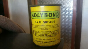 very nice condition 1 lb molybond grease tin oil west footscray melbourne
