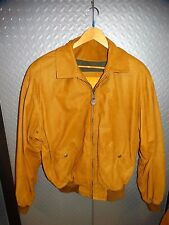 17208/ Mens TIMBERLAND Weather Gear Whiskey Color LEATHER JACKET Coat ~ Small