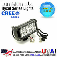 "Lumision CREE 36W 7"" Spot High Intensity LED Light Bar Truck RV SUV Off Road"