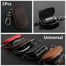 Coffee Top Layer PU Leather Car Smart Remote Key Holder Bags Cases Fob Universal