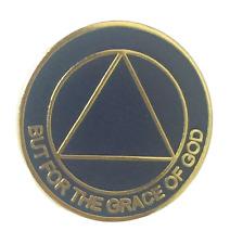 AA Alcoholics Anonymous Crested Logo & Moto Enamel Lapel Pin Badge