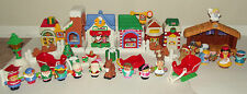 Little People Christmas on Main Street w/ box & Nativity Set Fisher Price
