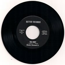 """NORTHERN SOUL 7"""" 45 JIMMIE STEWARD JR. - YES BABY / I'M IN LOVE AGAIN US BETTER"""