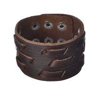 Handmade Braided Vintage Leather Cuff Bracelet Bangle For Men Love Gift