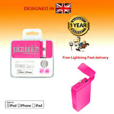 Juice Junkie Power Bank Pink Battery Charger For iPhone AirPods Case