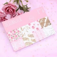 Flowers Scrapbooking Pads Paper Origami Art Background Paper Card Making 16pc