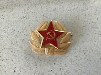 Genuine USSR CCCP Soviet Russian Communist Party  Army Hat Pin