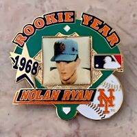 Nolan Ryan Licensed Rookie Pin New York Mets, Houston Astros, Texas Rangers