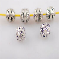50pcs Rondelle beads Findings Crafts Metal Loose Beads Spacer Charms 7.5mm