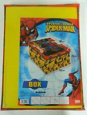 Box Scatola Contenitore Spiderman con coperchio misure 50x40x25 cartone E22
