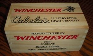 "Winchester 22LR-Limited ""Cabela's"" Edition Collector's Wood Box!"