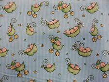Blue Pea Pod Babies Flannelette Baby Wrap Swaddle Blanket - 100% Cotton