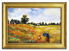 Claude Monet - Mohnblumenfeld bei Argenteuil -105x75cm-Ölbild handgemalt G94069