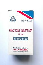 Famotidine 20mg Complete Acid Reducer & Antacid Heart Burn Reliever 100 Tablets