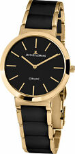 Jacques Lemans Women's 1-1999C Classic Black Dial Steel and Ceramic Watch